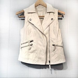 White Faux Leather Vest